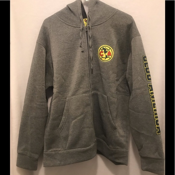 26e3f3d47 club america Sweaters | Zip Up Fleece Sweater Jacket Hoodie | Poshmark